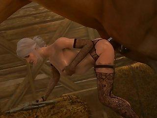 Ciri Getting Railed (darktronicksfm)[horse]3D Bestiality