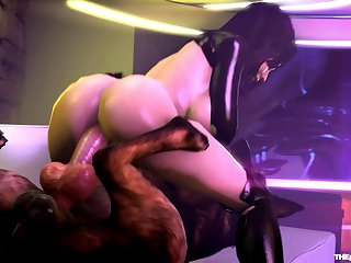 Miranda Lawson Riding A Dog [mass Effect](the Firebrand)[dog Wolf]3D Bestiality