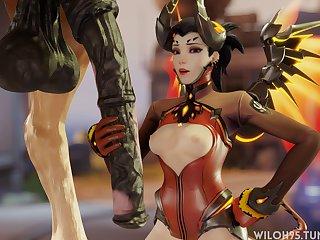 Mercy Horse Handjob (wiloh95)[horse]3D Bestiality
